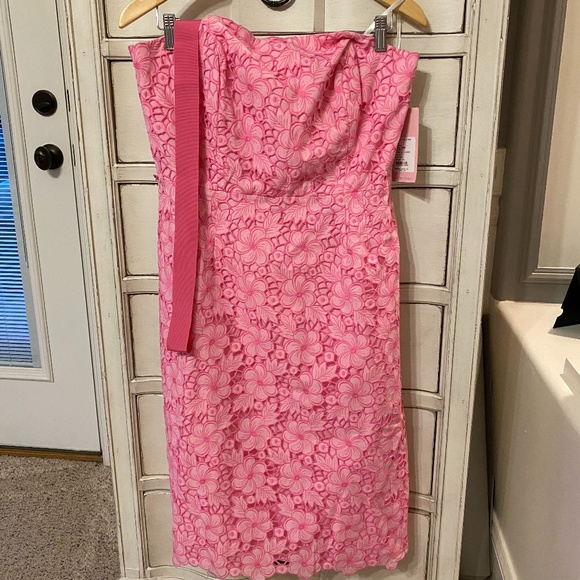 Lilly Pulitzer White Label Sienna Dress in Kentucky Eyelet, NWT, Size 12